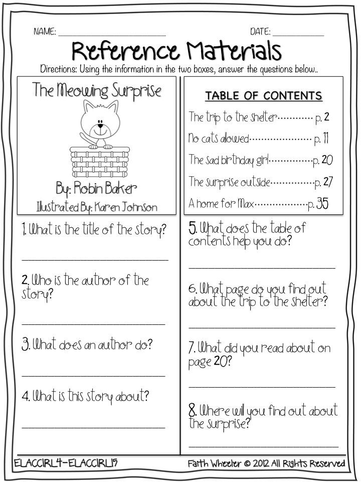 3rd Grade Library Skills Worksheets Slide1 720—960