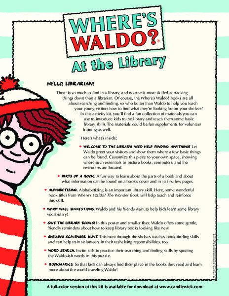 3rd Grade Library Skills Worksheets where S Waldo at the Library Printables & Template for 3rd