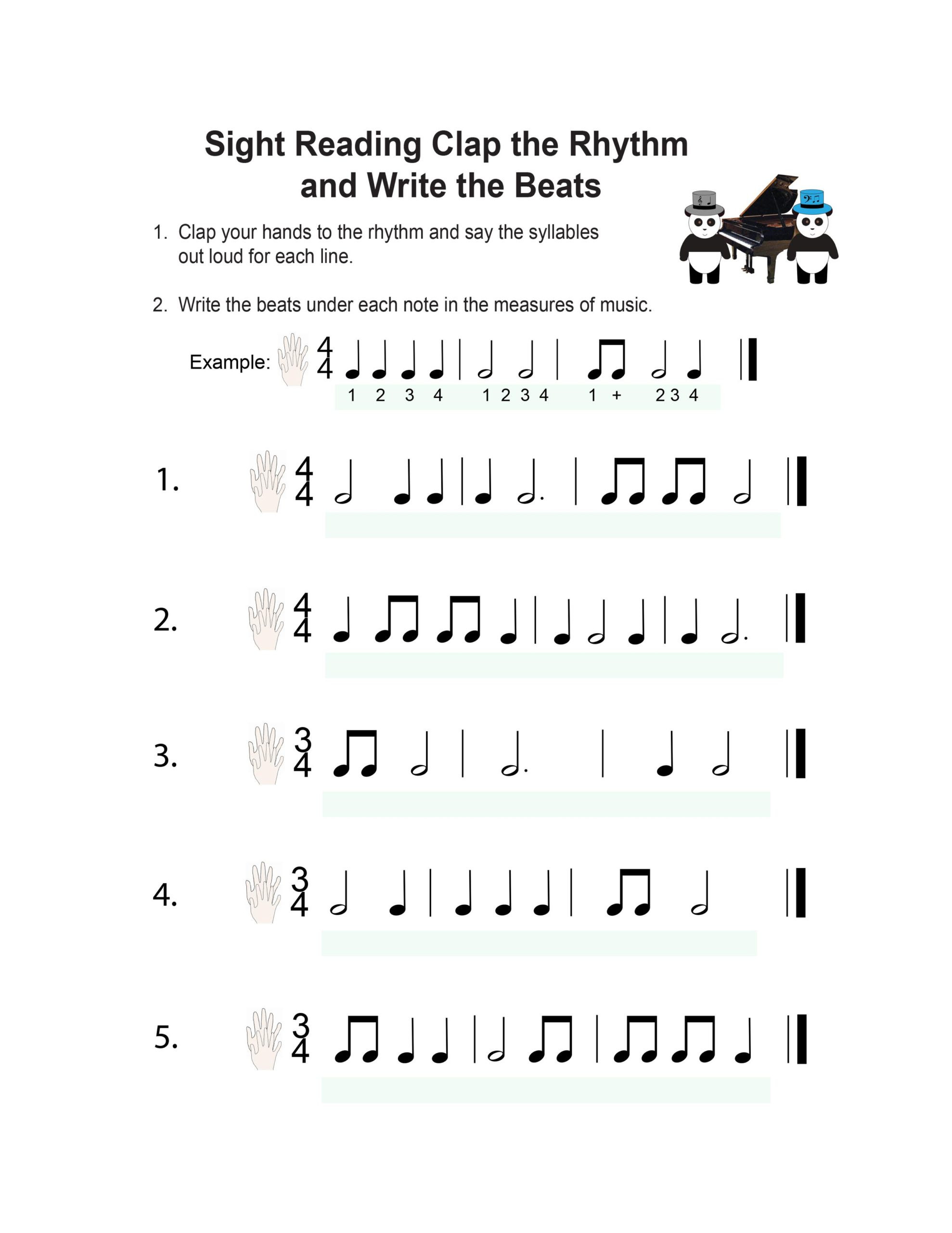 3rd Grade Music Worksheets Book Piano Lesson Music Worksheets Pandastic Designs