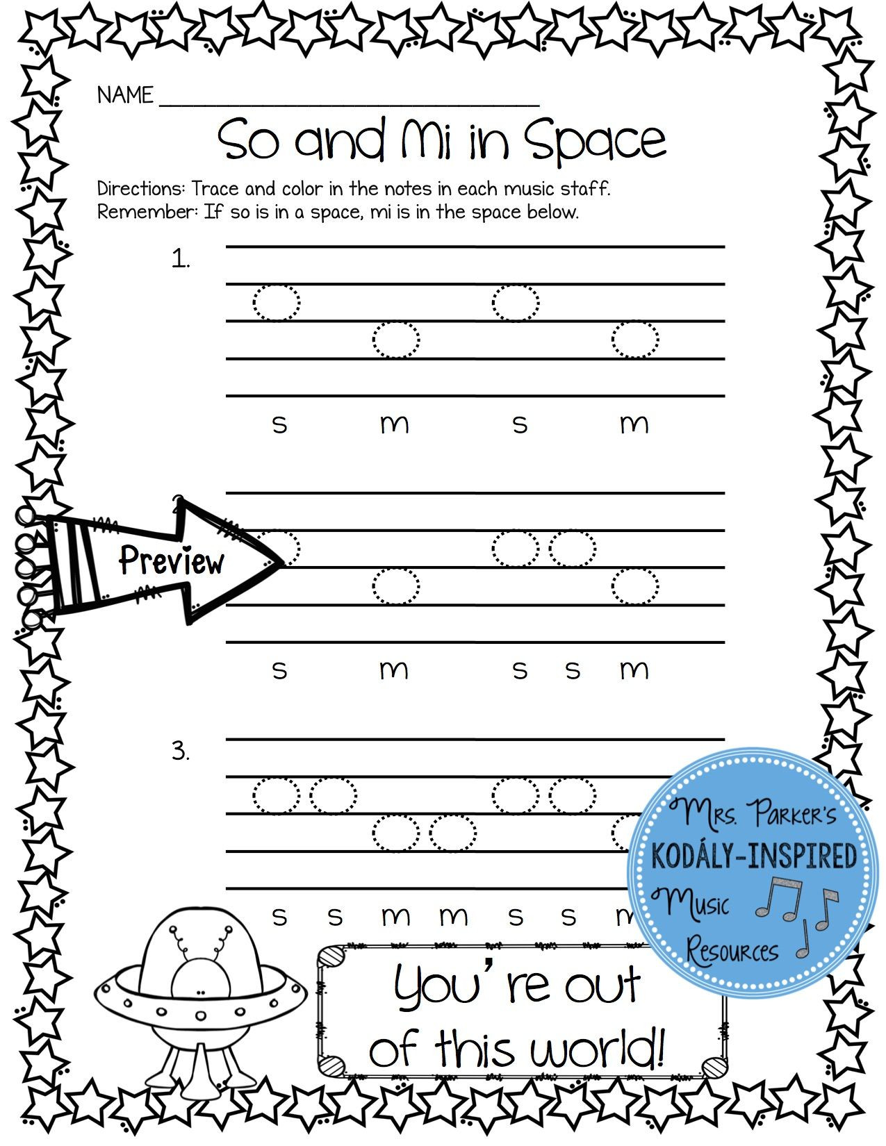 3rd Grade Music Worksheets Music Worksheet Bundle so and Mi