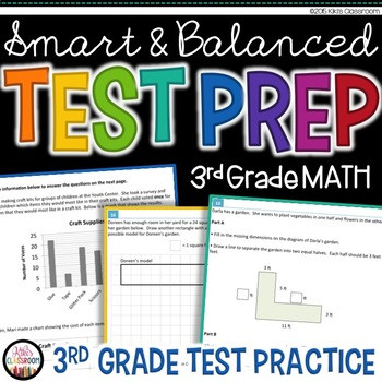 3rd Grade Test Prep Worksheets Math Test Prep 3rd Grade Printable Practice for Sbac & Parcc
