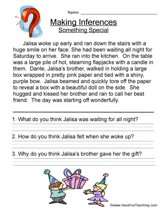 5th Grade Inference Worksheets Making Inferences Worksheets