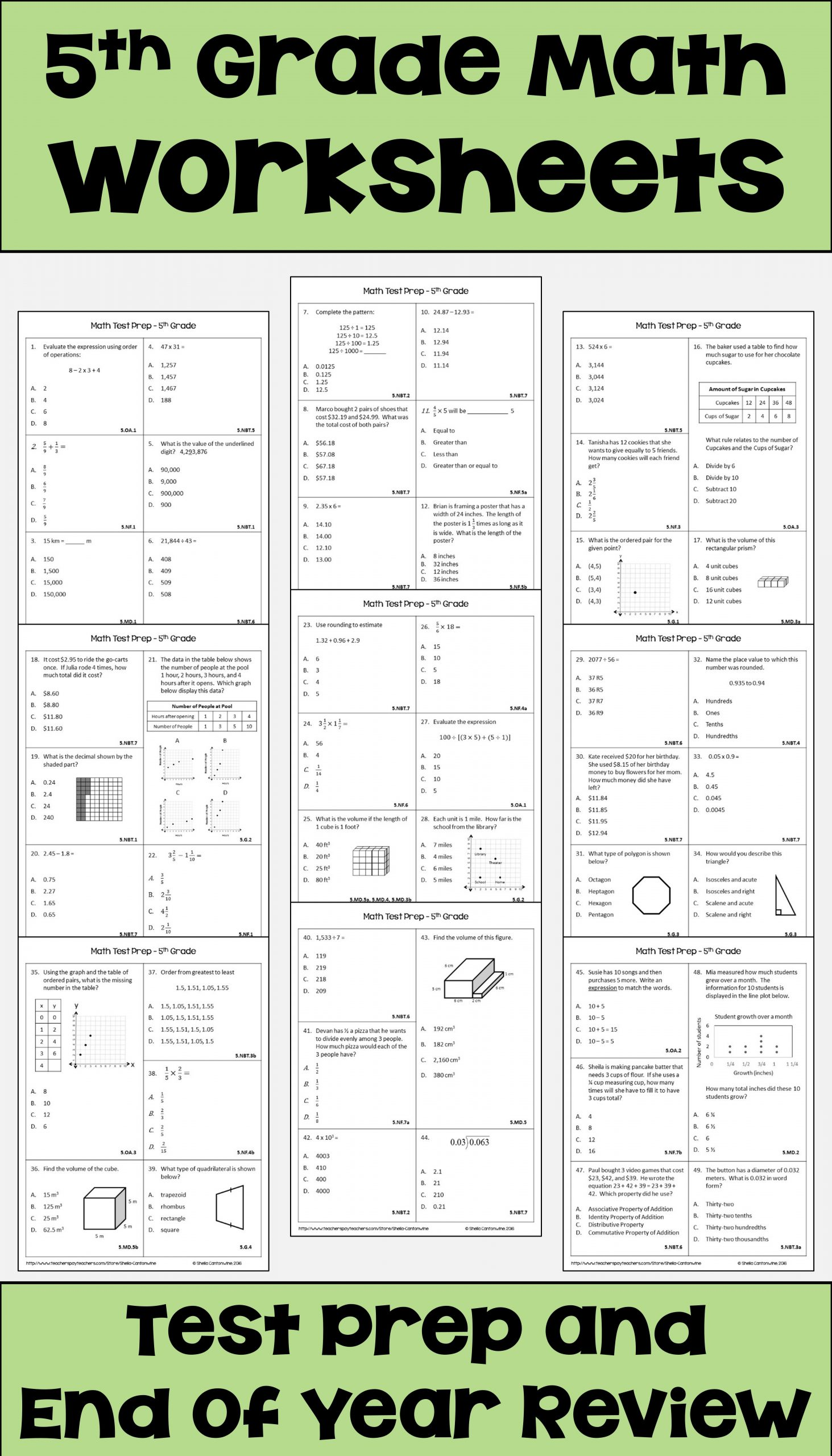 5th Grade Test Prep Worksheets Pin On 5th Grade Math Test Prep & Review
