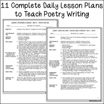 6th Grade Poetry Unit Worksheets 5th Grade Poetry Unit Unit 6