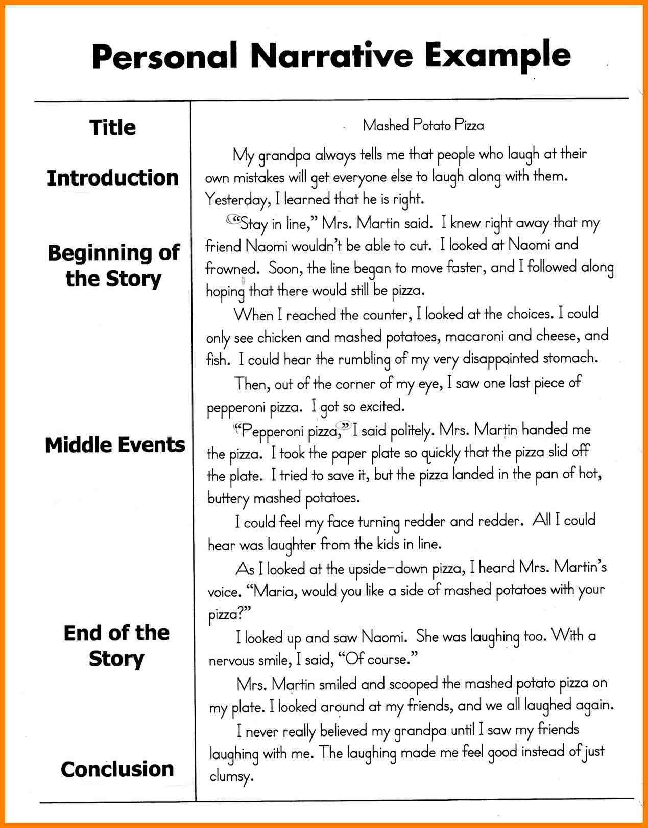 personal narrative writingeets examples essay address example inside 8th grade fabulous