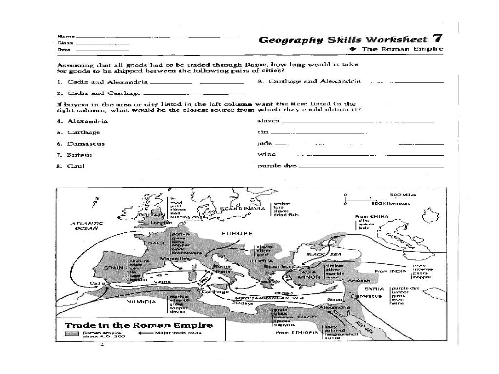 free printable 8th grade geography worksheets
