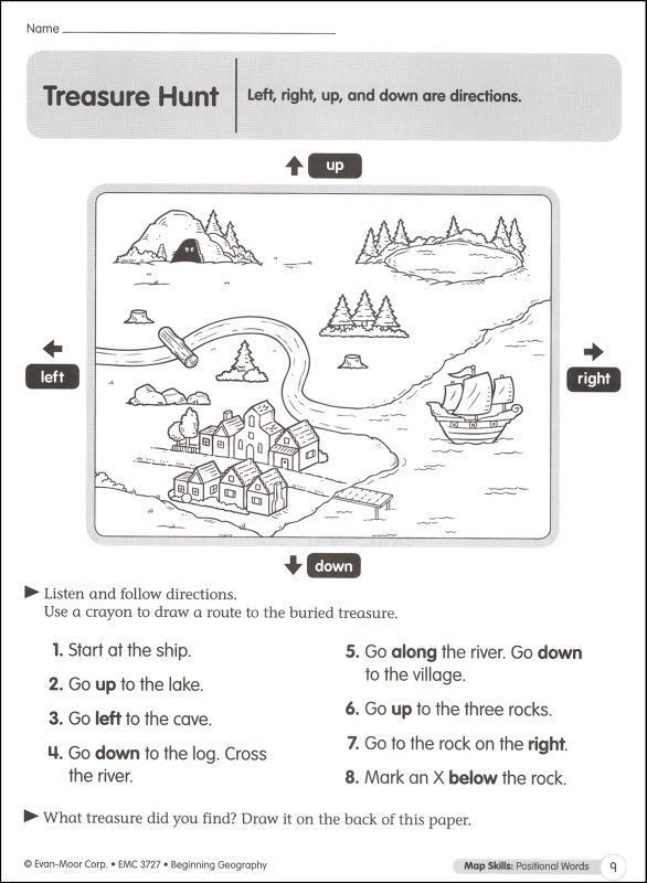 9th Grade Geography Worksheets Direction Worksheets for Grade 3
