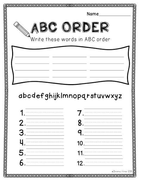 Abc order Worksheets 2nd Grade Spelling Activities A Freebie Abc order Sheet