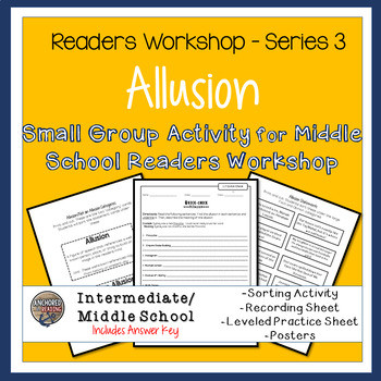 Allusion Worksheets High School Allusion Poster & Worksheets