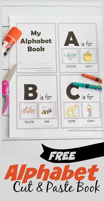 Alphabet Cut and Paste Worksheets Free Alphabet Cut & Paste Book