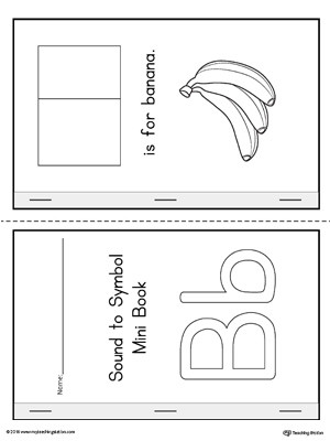 Alphabet Cut and Paste Worksheets Letter B Cut and Paste Printable Mini Book