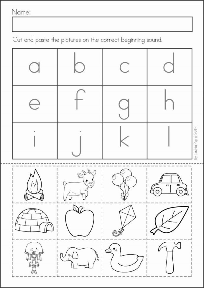 Alphabet Cut and Paste Worksheets Pin Alphabet Activities Cut and Glue Worksheets Free