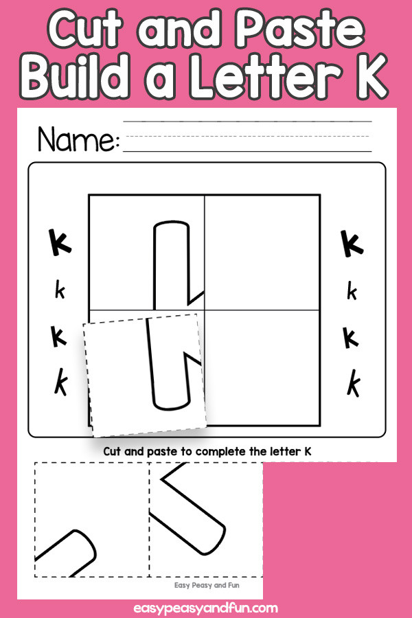 Alphabet Cut and Paste Worksheets Turkey Coloring Page