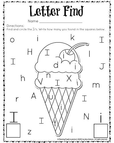 Alphabet Recognition Worksheets for Preschool Cute Letter Find Worksheets with A Freebie Planning Playtime
