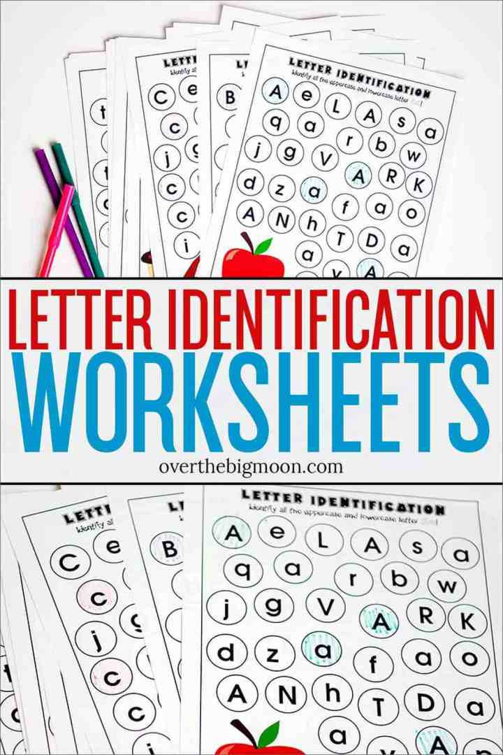 Alphabet Recognition Worksheets for Preschool Full Alphabet Letter Identification Printables