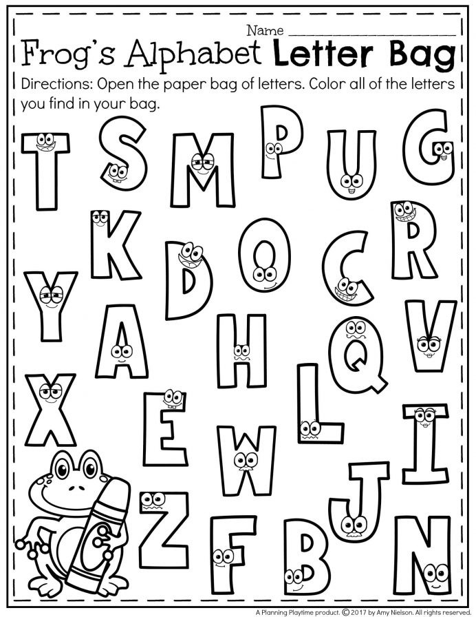 Alphabet Recognition Worksheets for Preschool Printables Preschool Recognition Kindergarten Letter Games