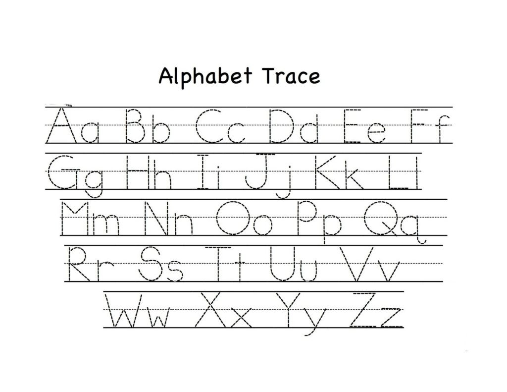 Alphabet Tracing Worksheets for Preschool Math Worksheet Preschool Alphabet Trace Worksheet Awesome