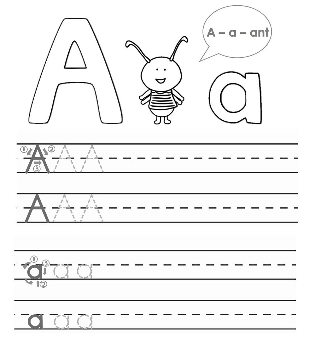 Alphabet Tracing Worksheets for Preschool Worksheet Trace Worksheet for Kids Alphabet Tracing