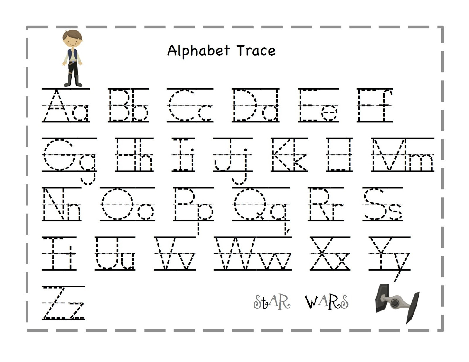 Alphabet Tracing Worksheets Printable 7 Best Printable Traceable Letters Printablee