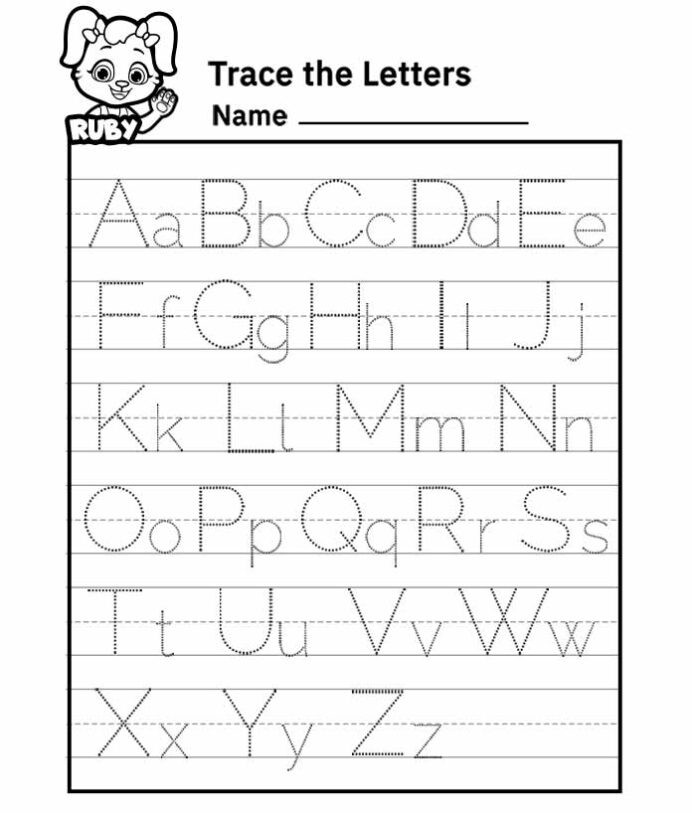 Alphabet Tracing Worksheets Printable Alphabet Letter Tracing Worksheet Free Printable Worksheets