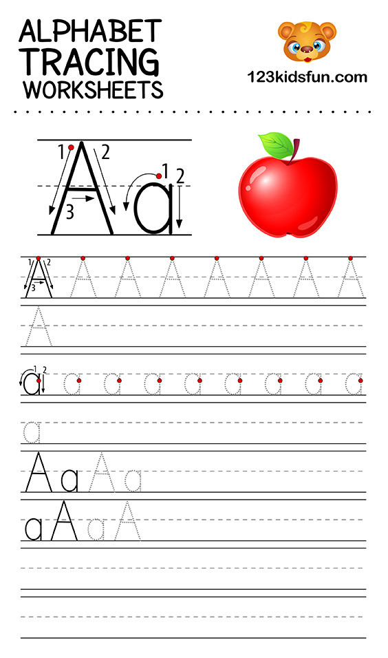 Alphabet Tracing Worksheets Printable Alphabet Tracing Worksheets A Z Free Printable for Kids