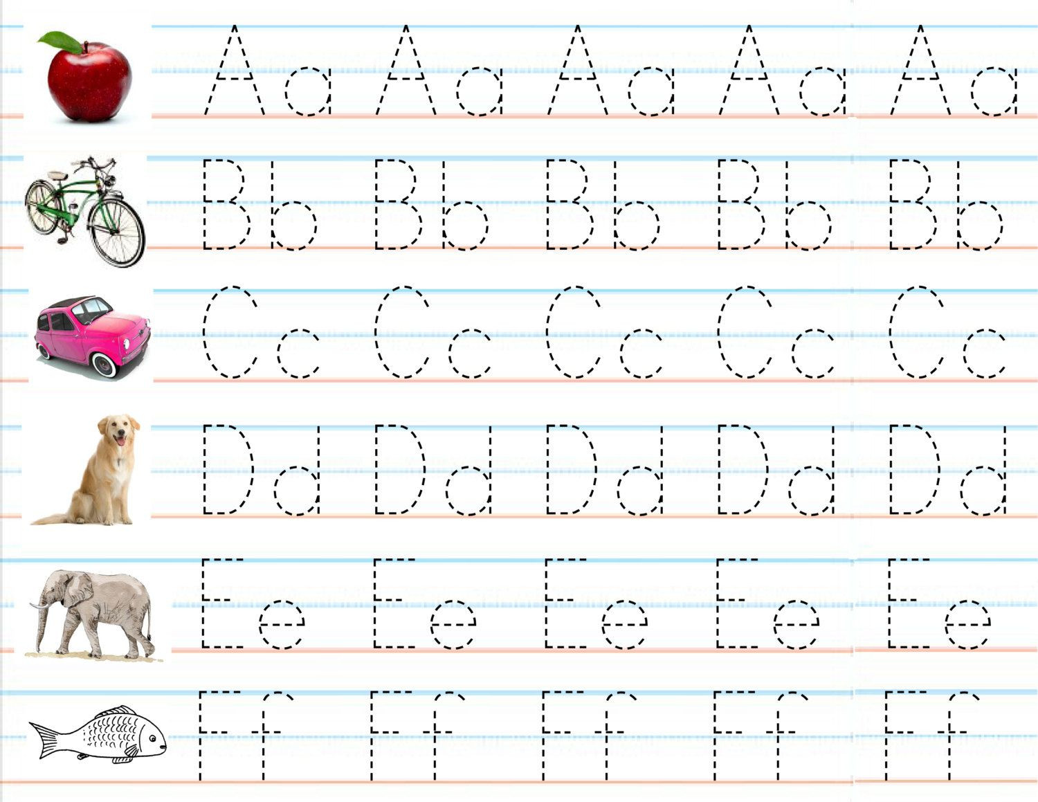 Alphabet Writing Worksheets Pdf Math Worksheet Beginning Reading Worksheets for