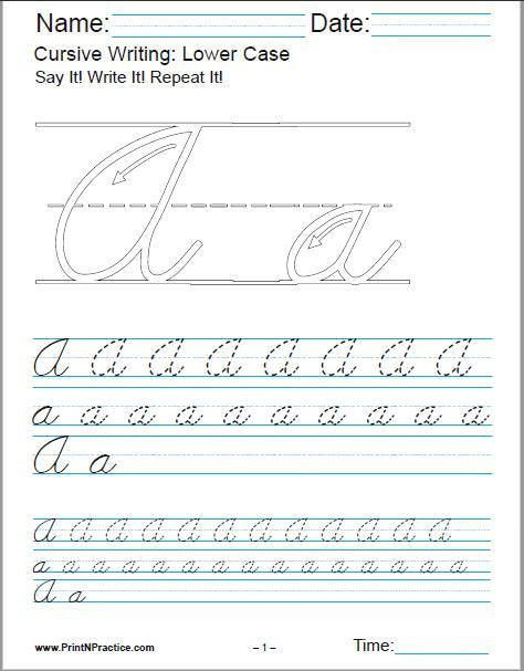 Alphabet Writing Worksheets Pdf Printable Cursive Writing Worksheets Pdf for Learning the