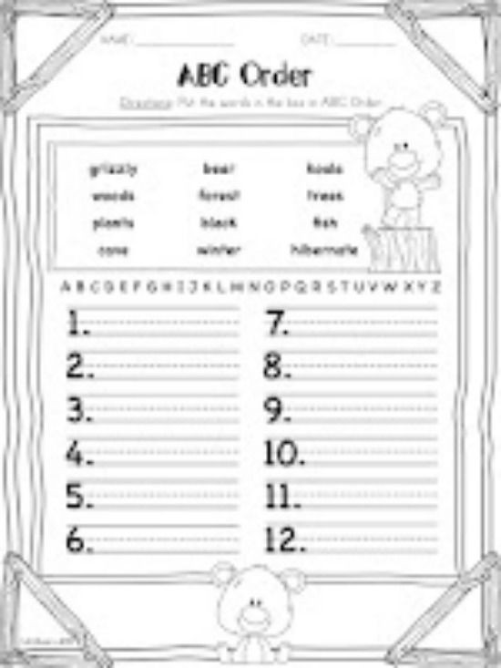Alphabetical order Worksheets Free 3 Spring Alphabetical order Downloads for First Grade