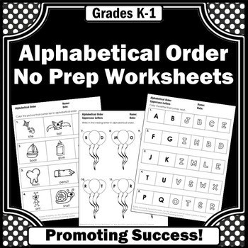 Alphabetical order Worksheets Kindergarten Worksheet Distance Learning Packetor Kindergarten