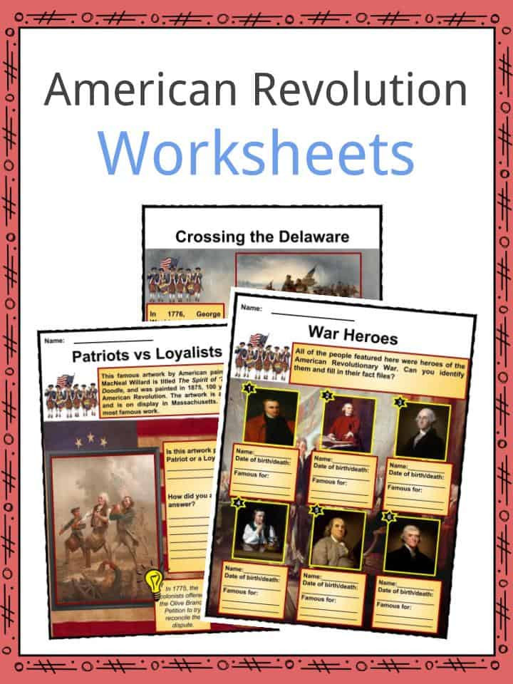 American History Worksheets 8th Grade American Revolution Worksheets Facts Timeline & Key