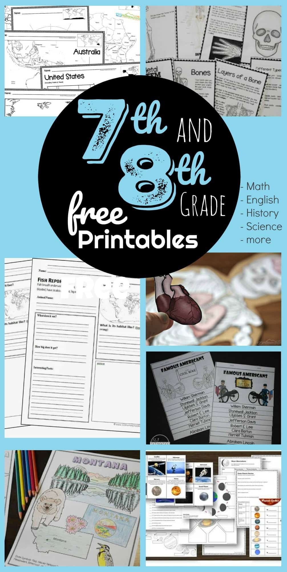 American History Worksheets 8th Grade Free 7th & 8th Grade Worksheets