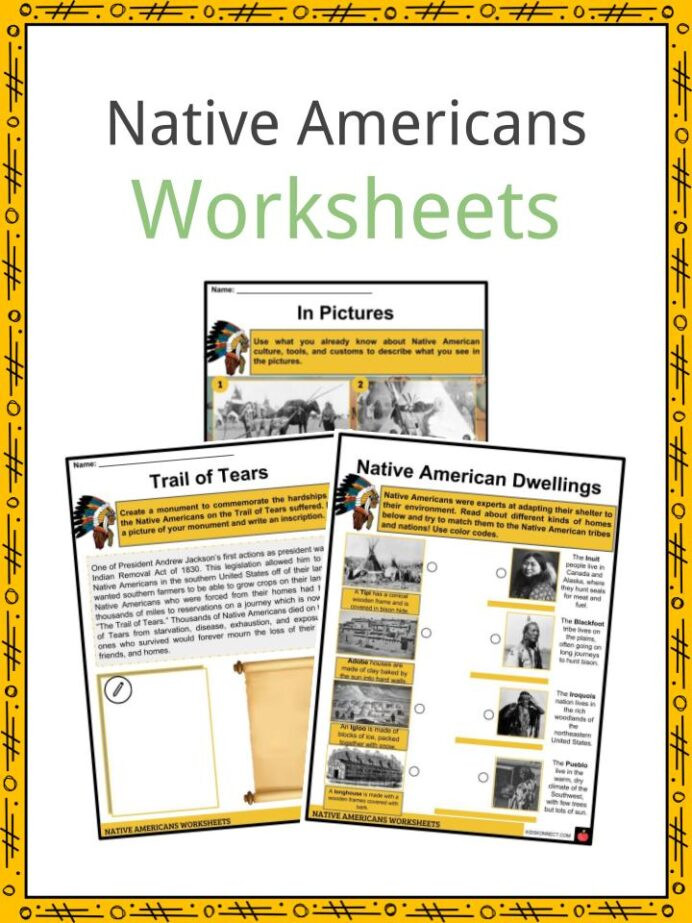 American History Worksheets 8th Grade Native History Facts Worksheets Way Life Culture
