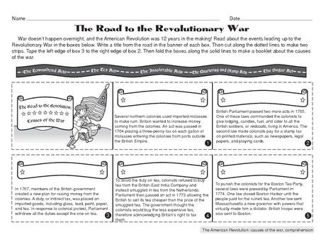 American History Worksheets 8th Grade social Stu S Worksheet Causes Of the American Revolution