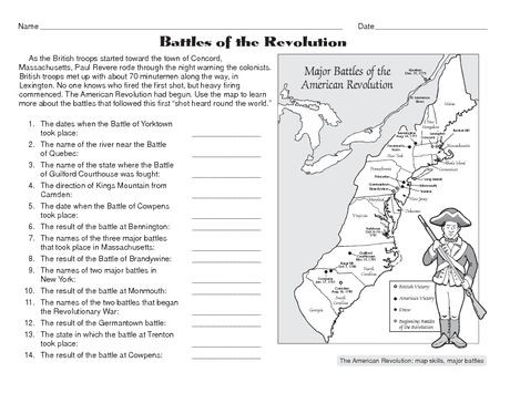American History Worksheets 8th Grade social Stu S Worksheet the American Revolution the