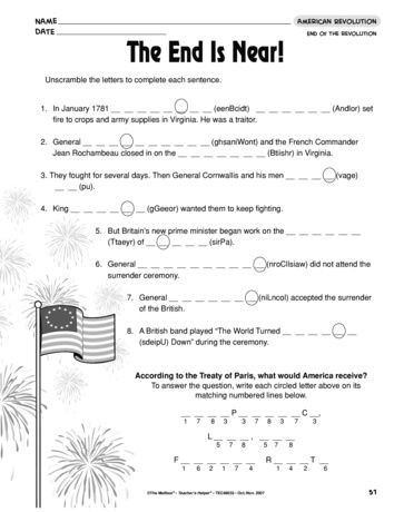 American History Worksheets 8th Grade the End is Near Lesson Plans the Mailbox