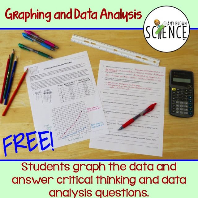Analyzing Data Worksheet High School Graphing Scientific Method and Data Analysis Practice