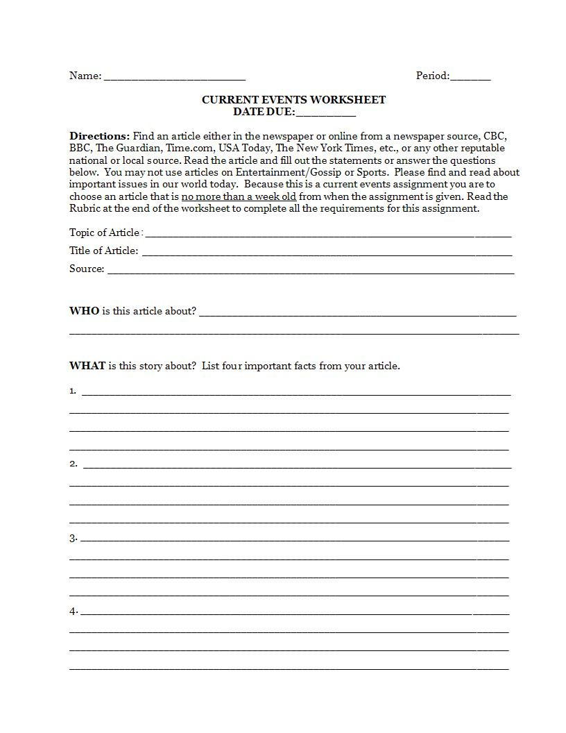 Article Analysis Worksheet High School 9 Article Writing Examples for Students Pdf Doc