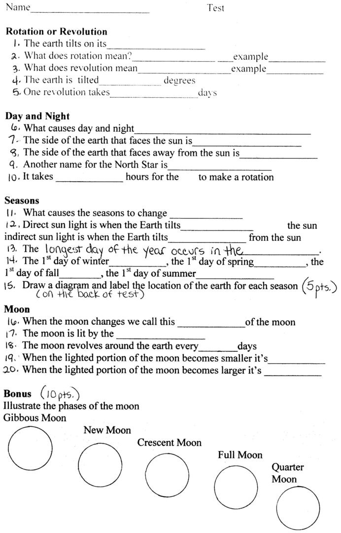 Astronomy Worksheets High School astronomy Worksheets for High School Kids Activities Free