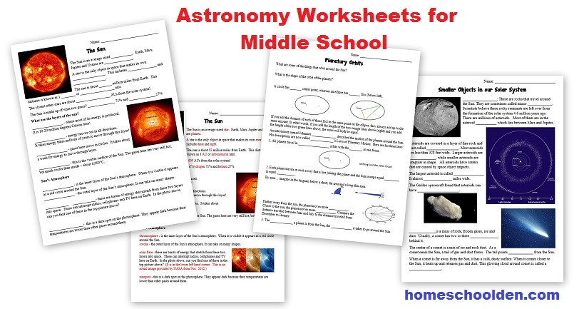 Astronomy Worksheets High School Free astronomy Worksheets Middle School Homeschool Den