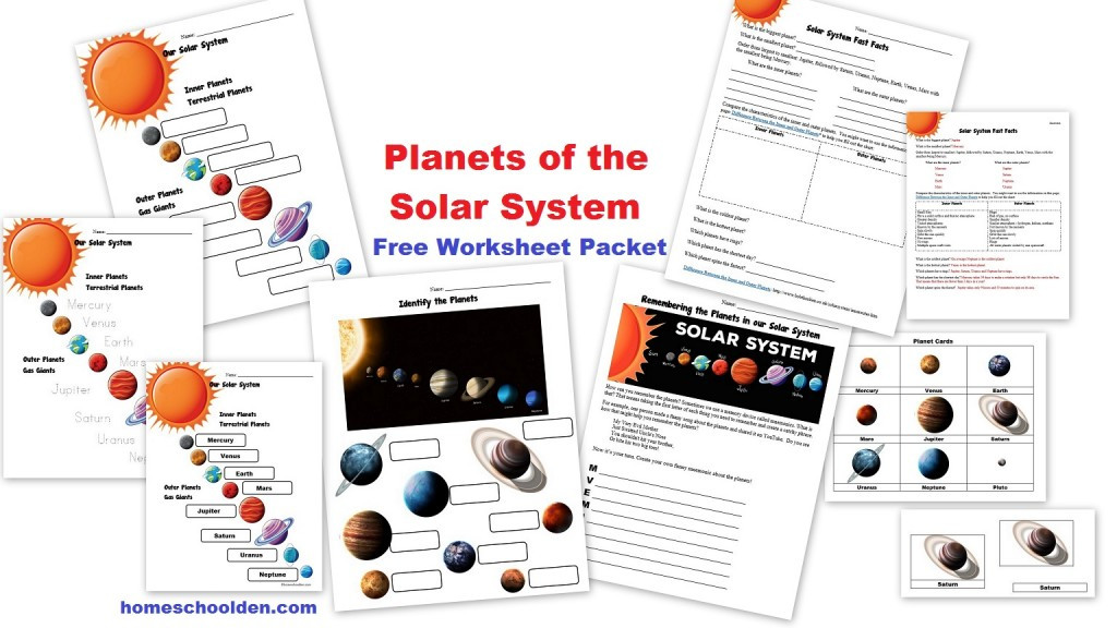 Astronomy Worksheets High School Free Planets Of the solar System Worksheets Homeschool Den