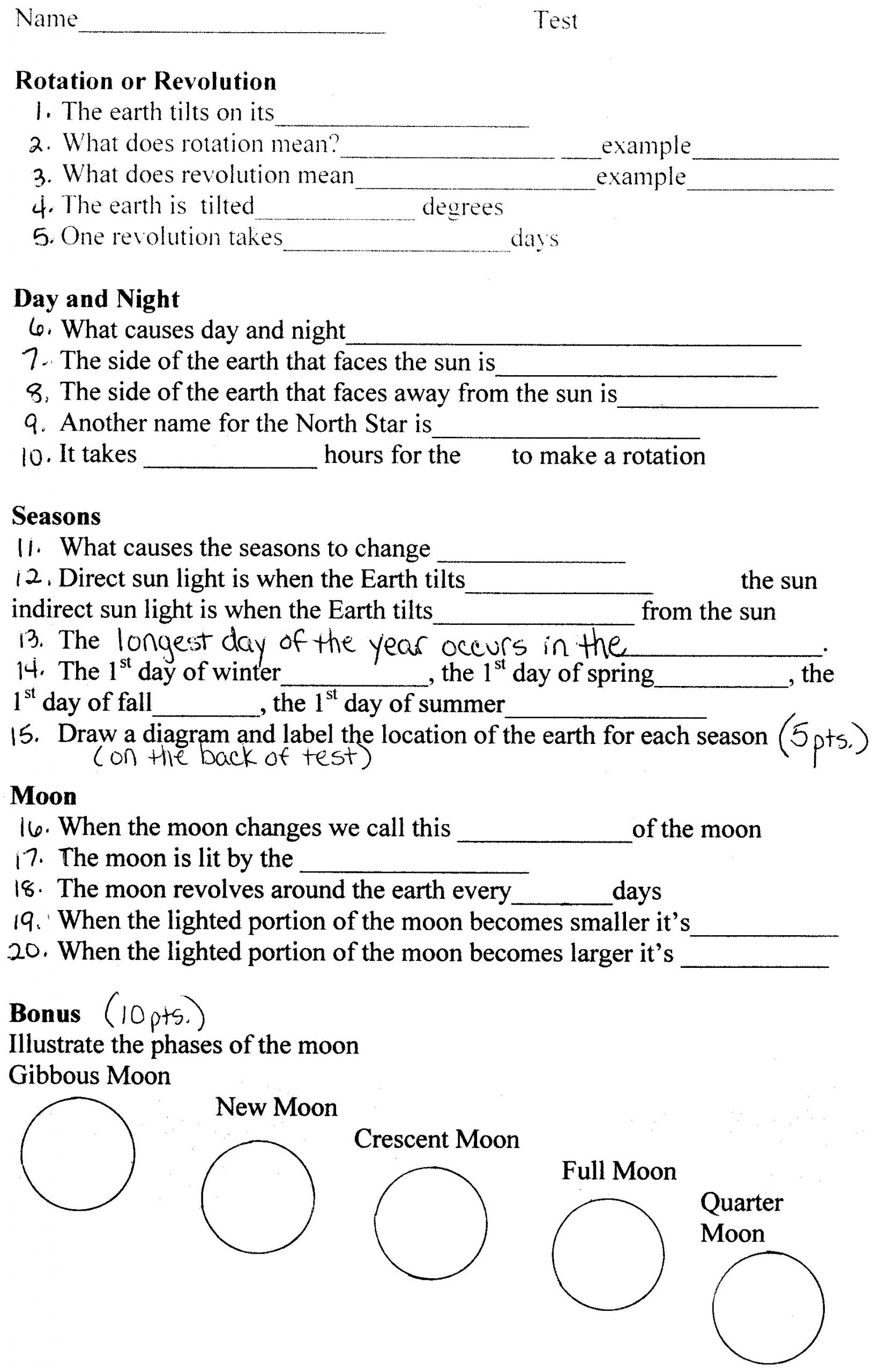 Astronomy Worksheets High School Pdf astronomy Worksheets for High School