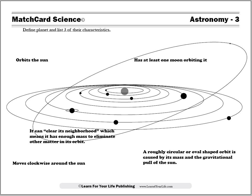 Astronomy Worksheets High School Science Worksheets