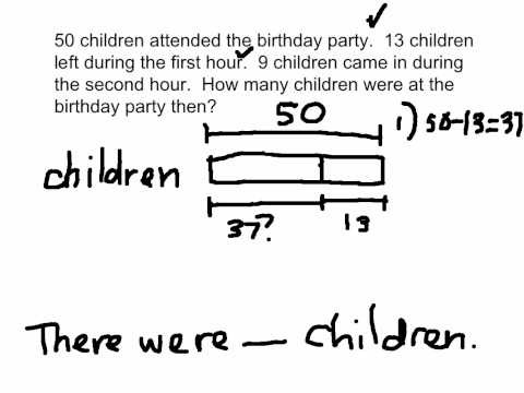 Bar Modeling Worksheets 2nd Grade 2 Step Word Problems and Bar Models solutions Examples