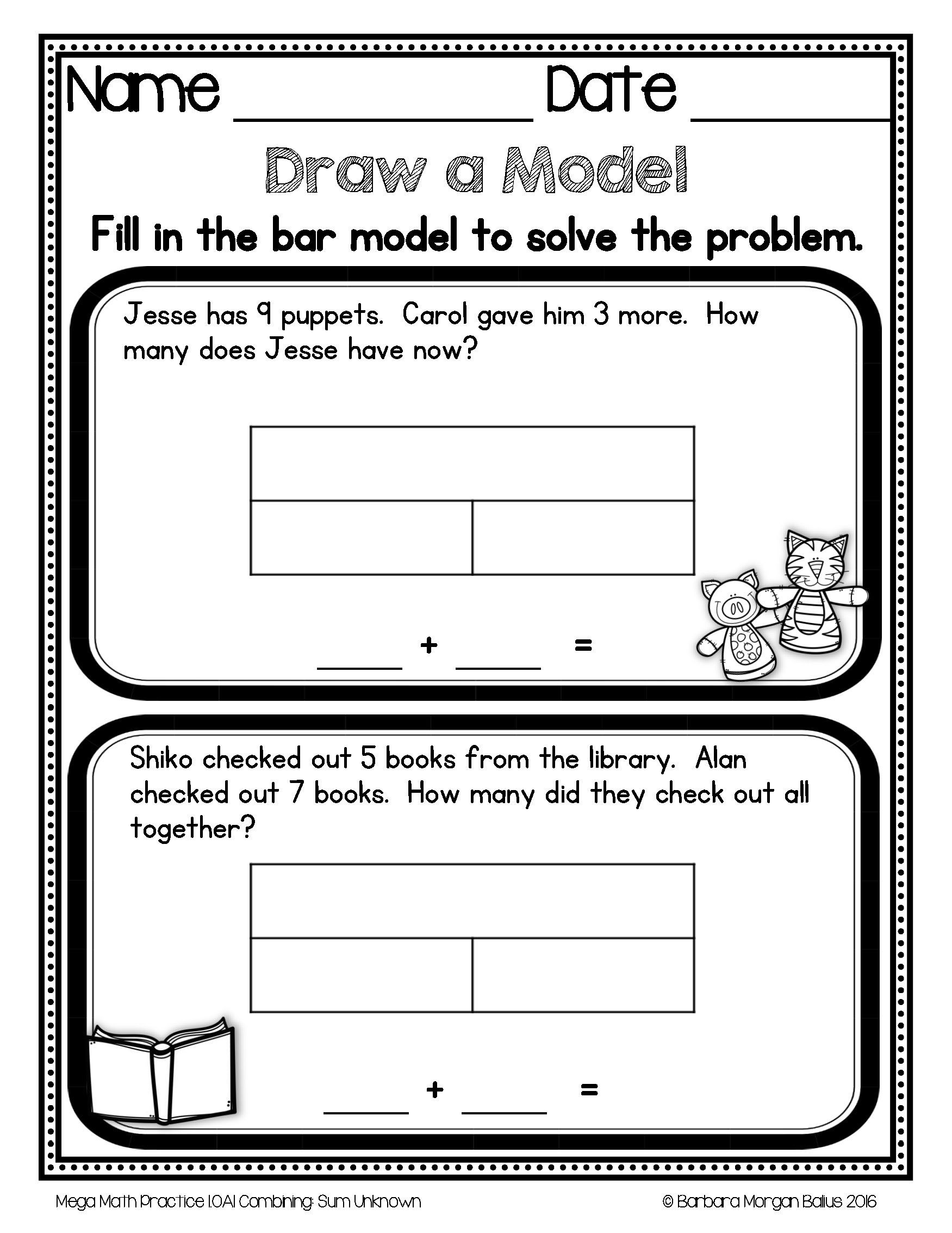 Bar Modeling Worksheets 2nd Grade Pin by Barbara Balius M Ed Curriculu On Math Teaching Ideas