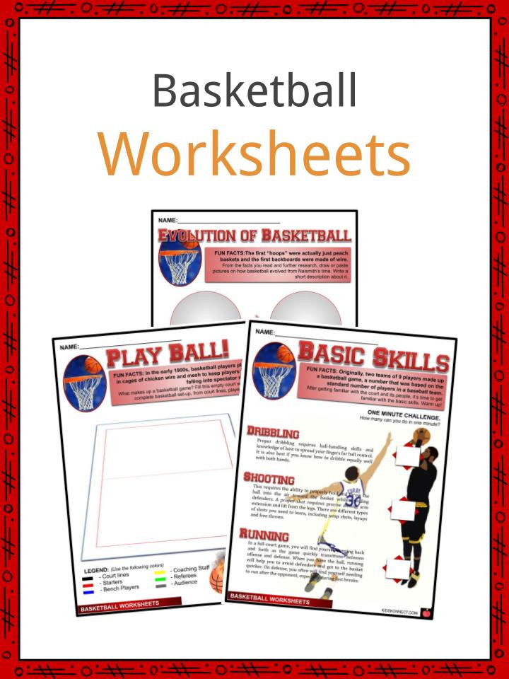 Basketball Worksheets for High School Basketball Facts Worksheets & Sporting History for Kids