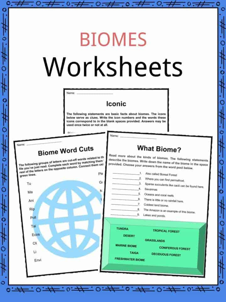 Biomes Worksheet 5th Grade Biome Facts Worksheets Plant Animal Ecology for Kids Connect
