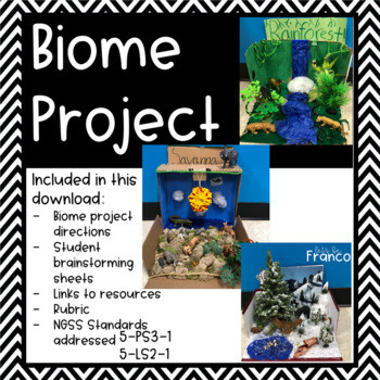 Biomes Worksheet 5th Grade Biome Shoe Box Project for 5th Grade Ngss