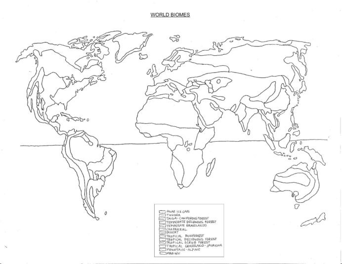Biomes Worksheet 5th Grade Biomes the World Coloring Map topographic Printable