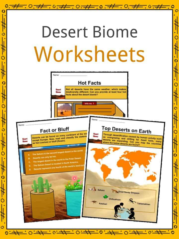 Biomes Worksheet 5th Grade Desert Biome Facts Worksheets Types Locations Flora