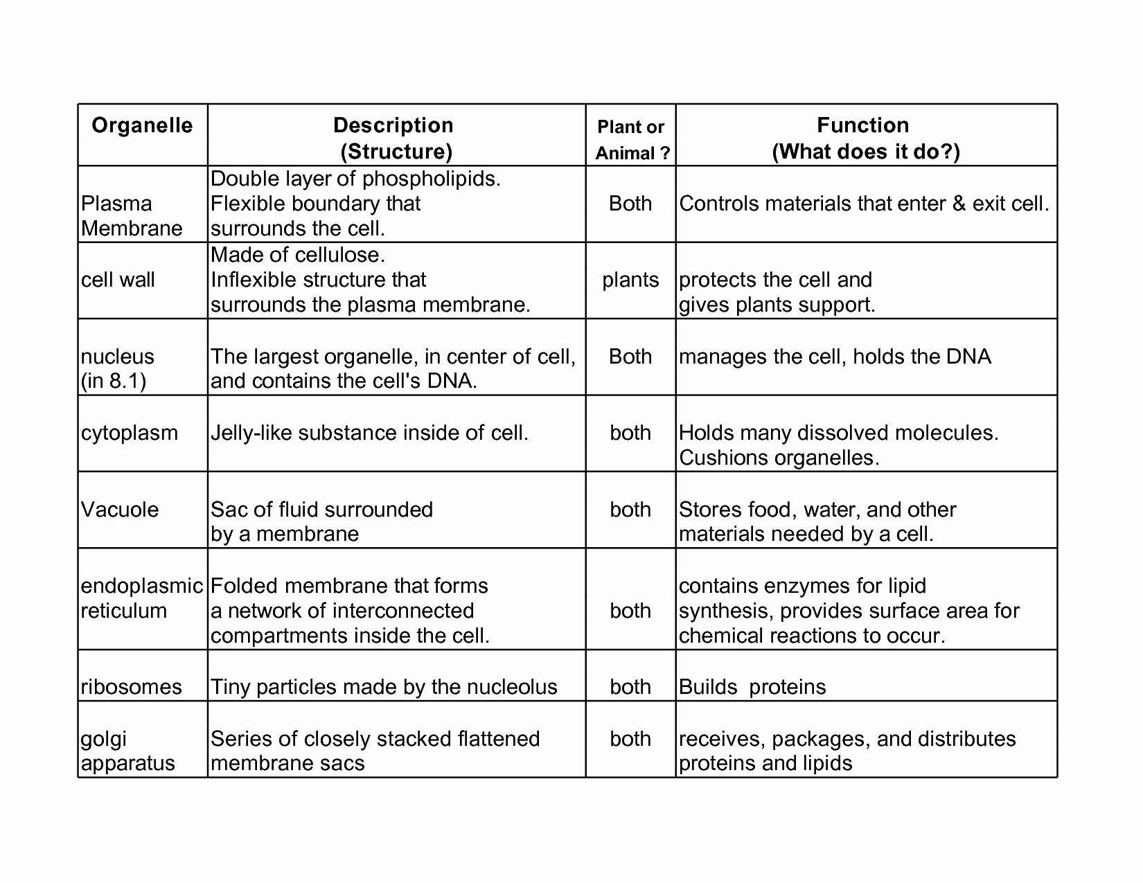 cell organelles worksheet answer key briefencounters
